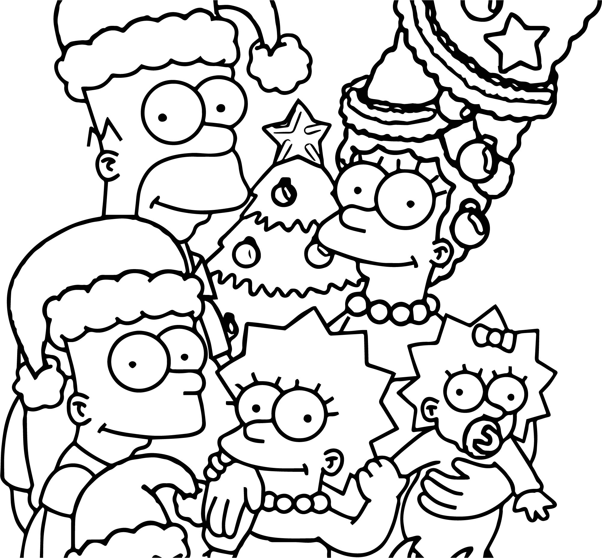 Simpsons Coloring Pages Printable