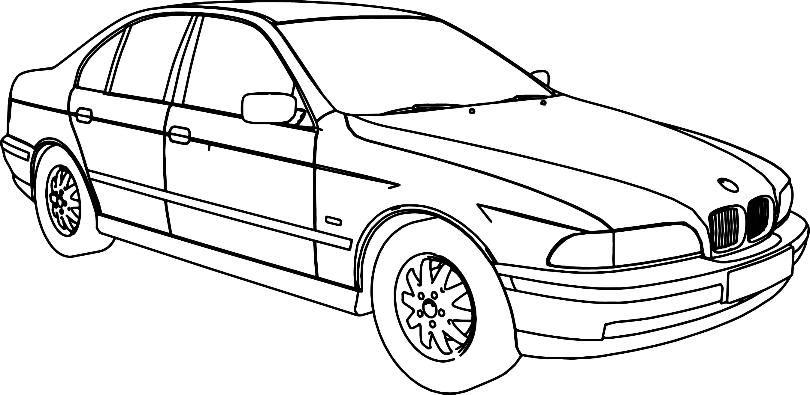 Bmw 540 Model Car Coloring Page Wecoloringpage