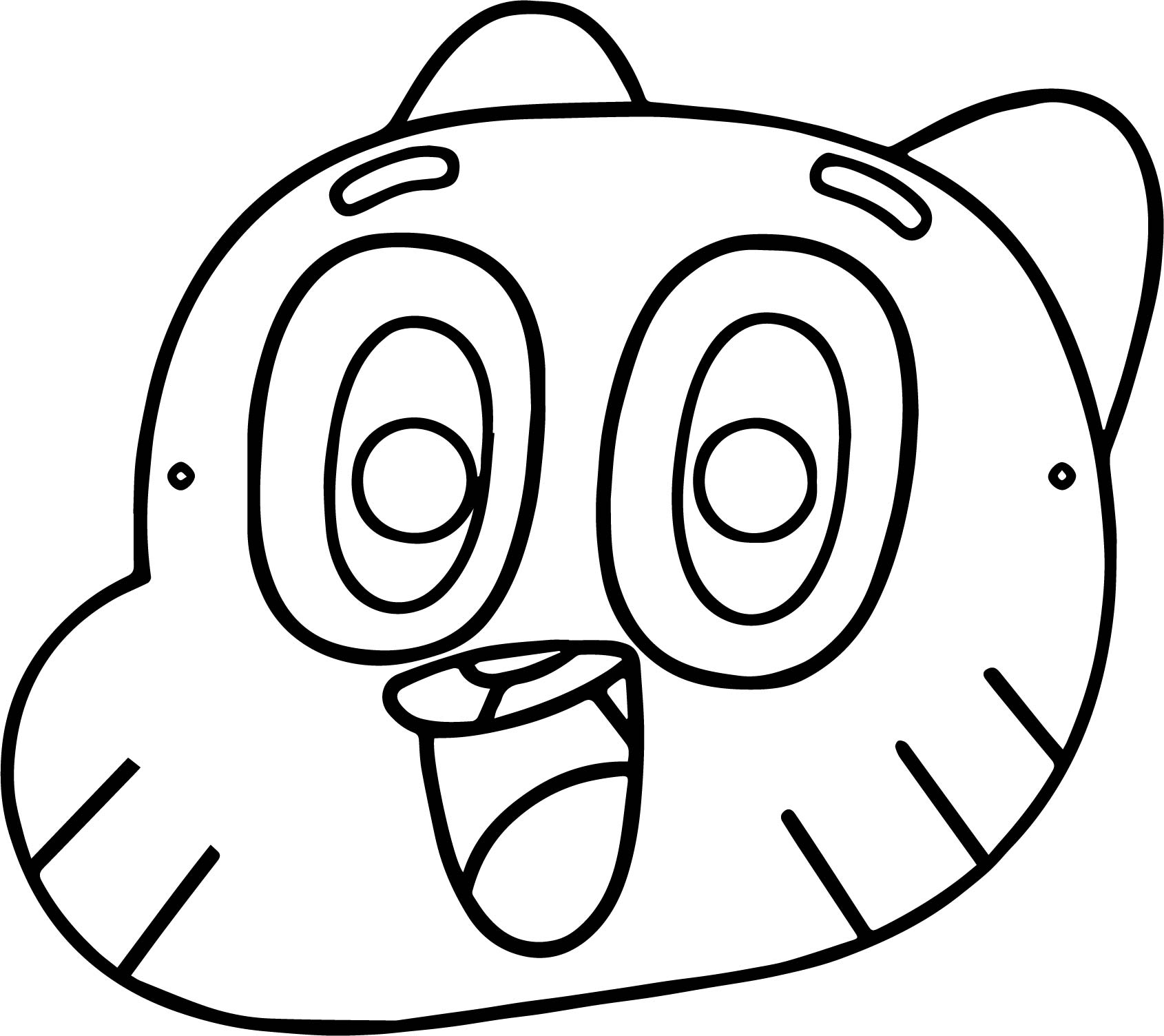 Mask Gumball Party Children Coloring Page Wecoloringpage