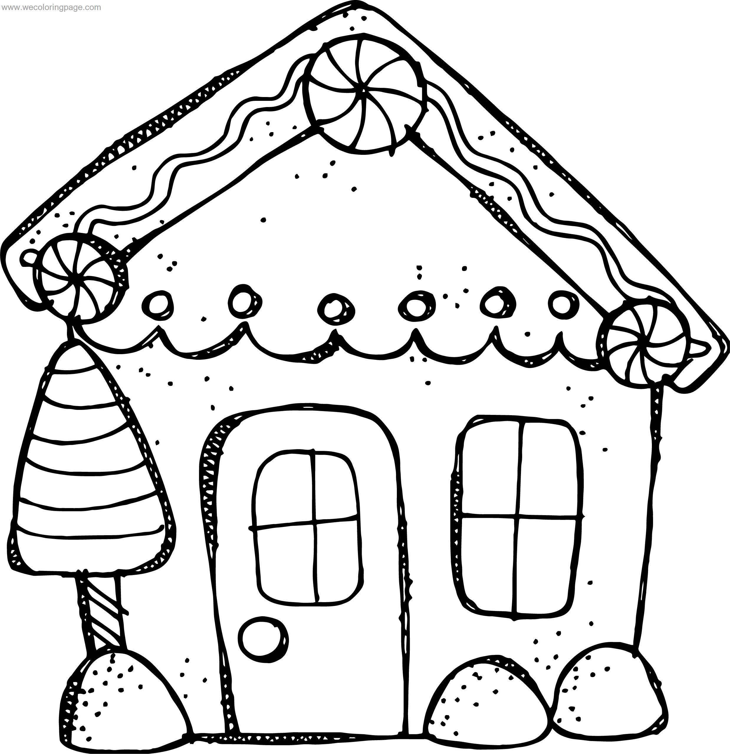 Preschool Gingerbread House Coloring Page | Wecoloringpage.com