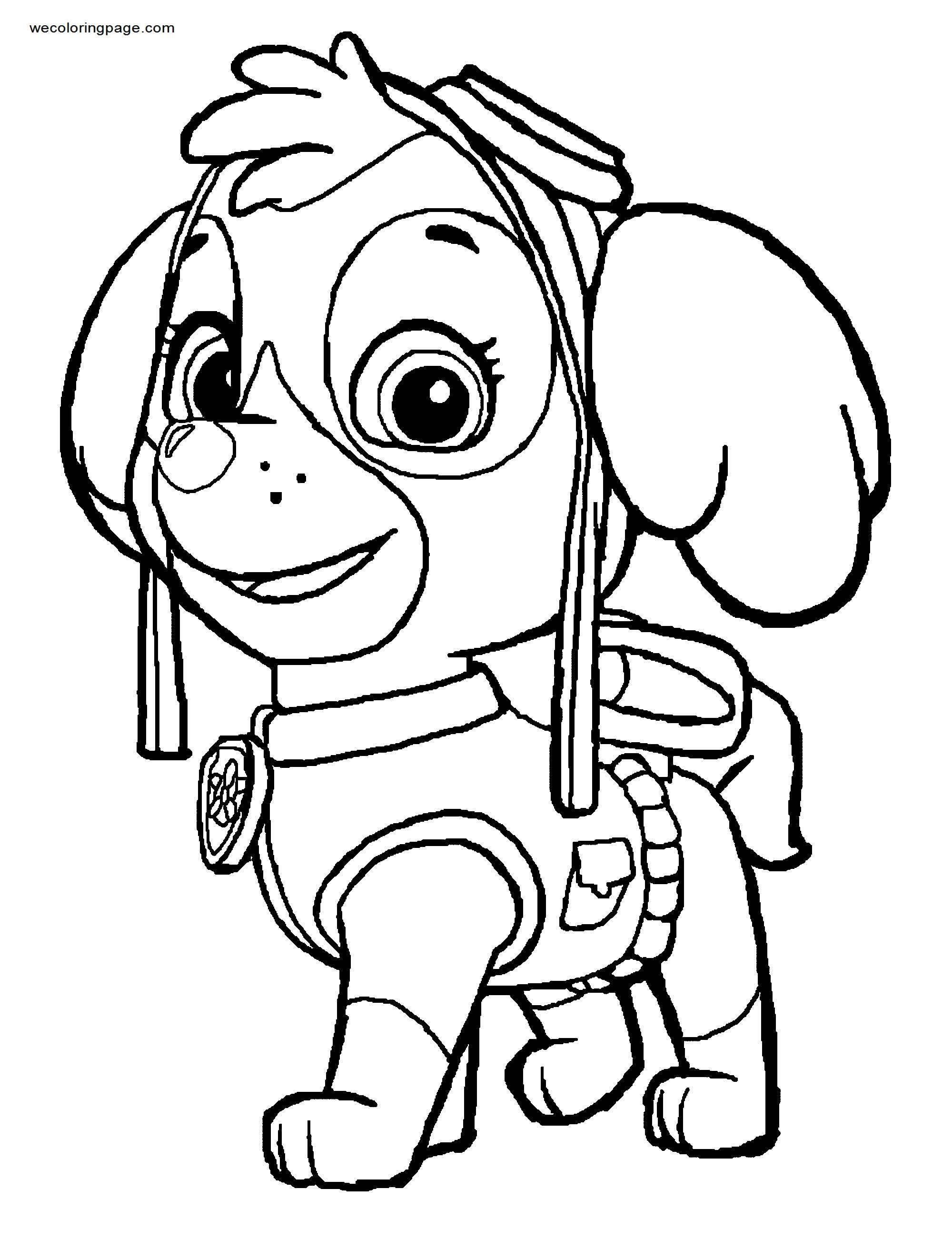 Skye Face Coloring Page