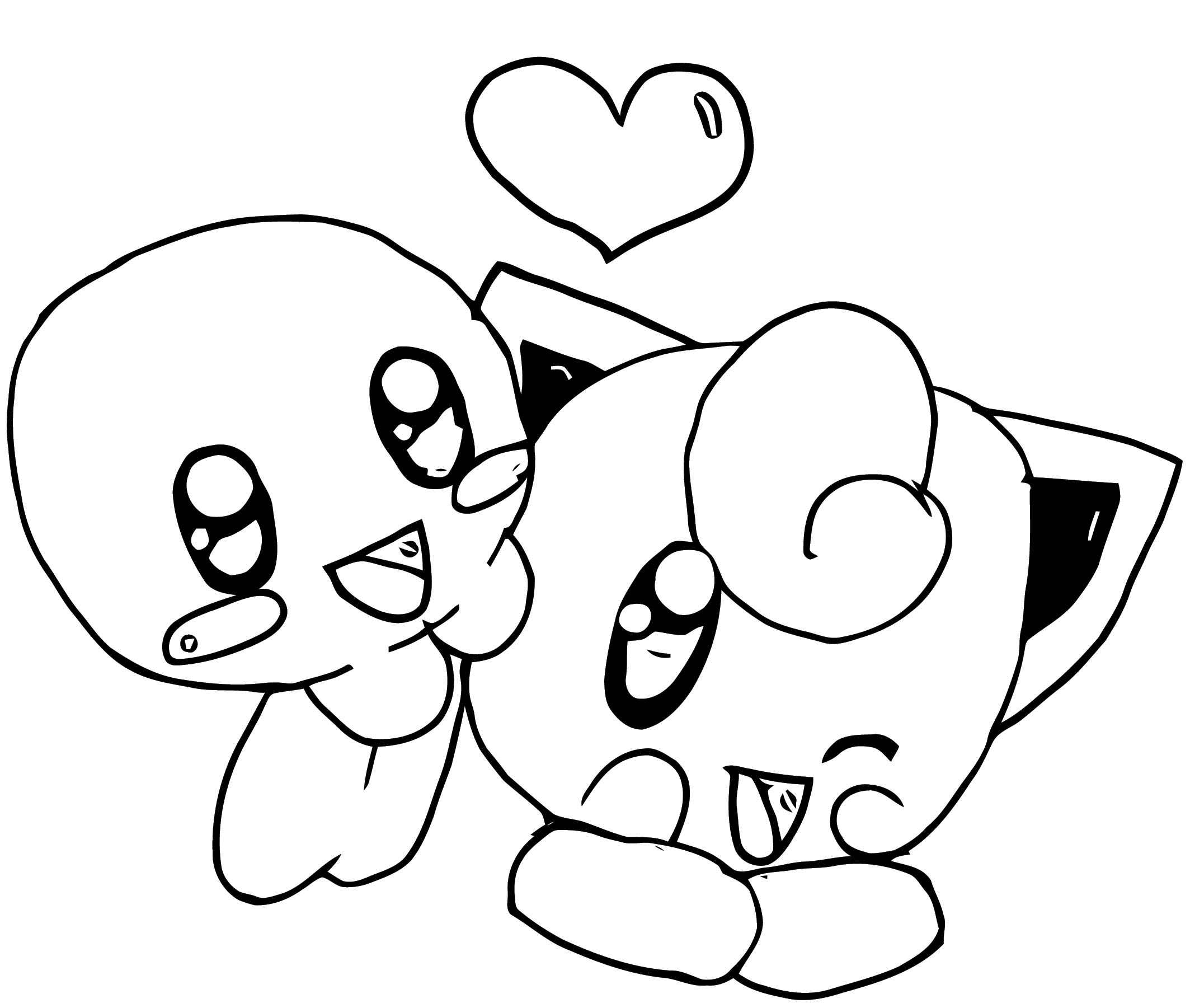 Kirby And Jigglypuff Coloring Page Www Tollebild Com