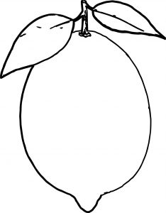 lemon coloring page # 53