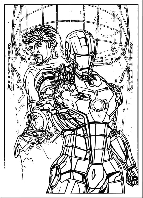 coloring pages avengers # 64