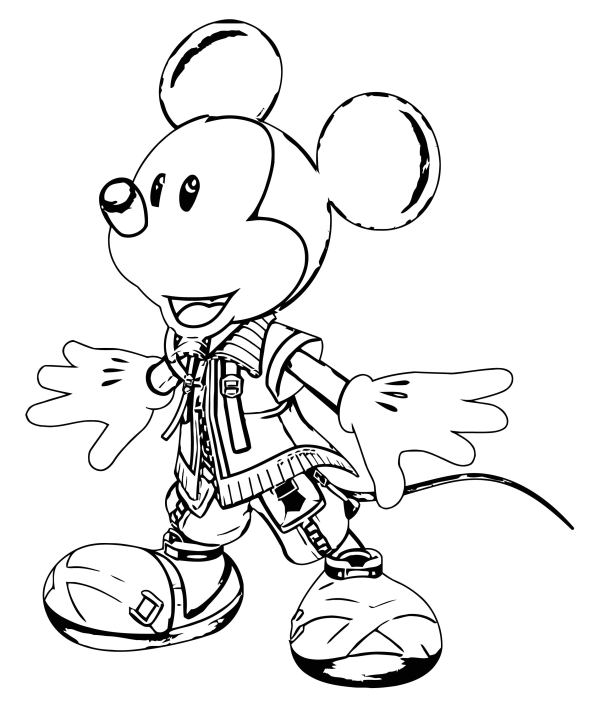 mickey coloring page # 63