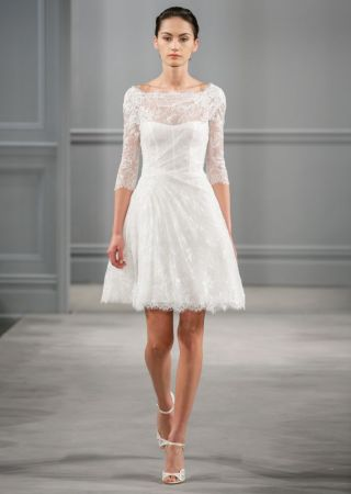 From City Hall to the Altar    Monique Lhuillier Spring 2014 Spring 2014 Wedding Dress Monique Lhuillier Bridal Vignette