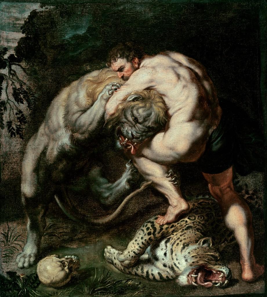 hercules vs nemean lion - HD921×1024