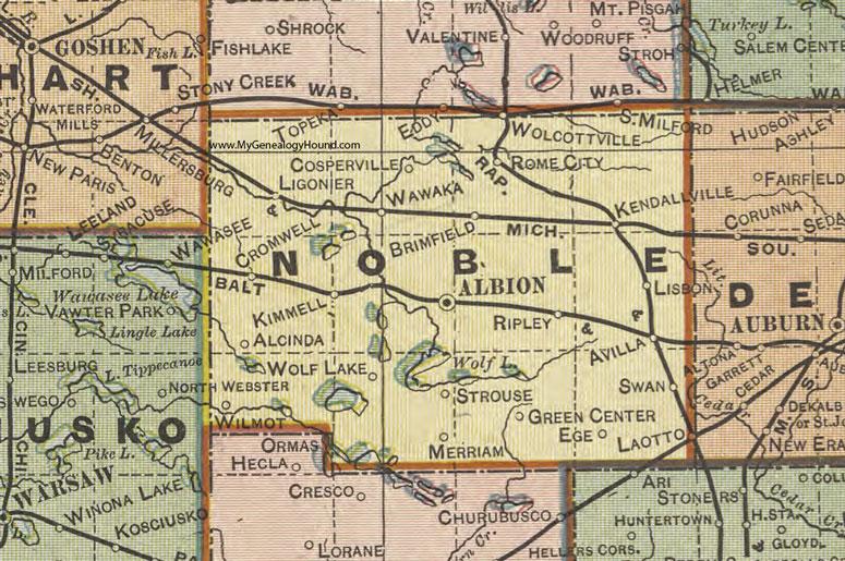 Map Drainage Indiana Lake County