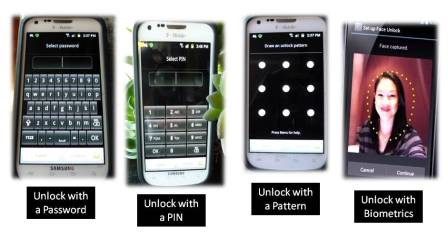 Ways to unlock a smartphone