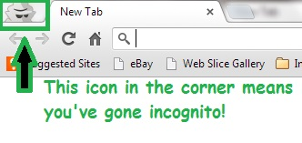Incognito surfing with chrome