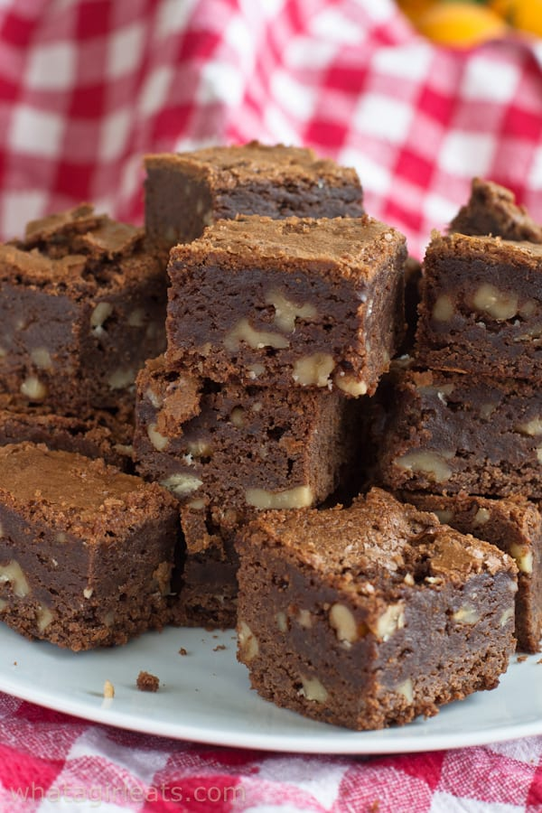 """Notting Hill brownies are a sweet brownie treat, named after the movie, """"Notting Hill"""". They're chocolaty, fudgy, chewy, and decadent."""