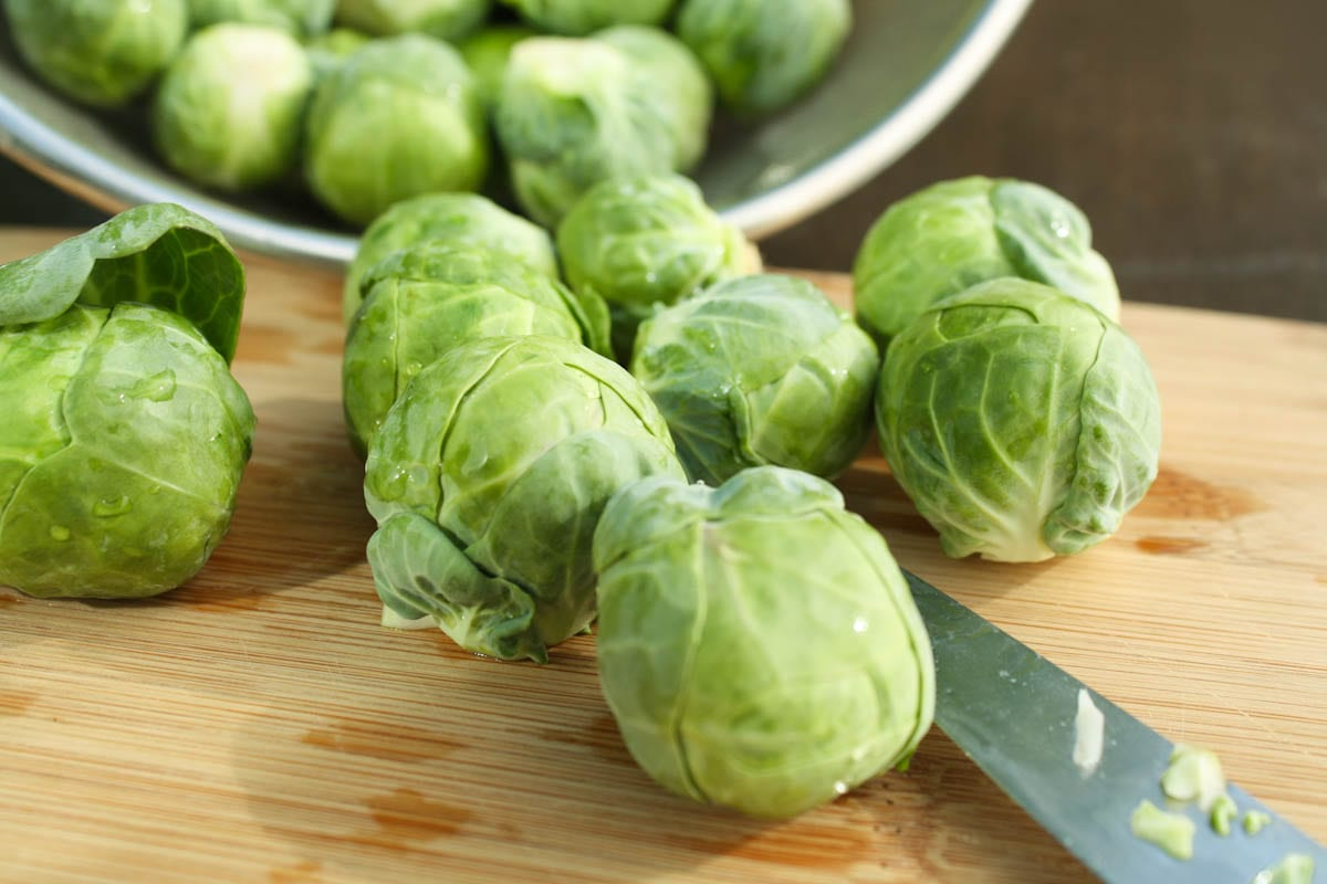 Sprouts on cutting board