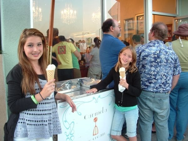 Carmela's ice cream, pasadena, california.