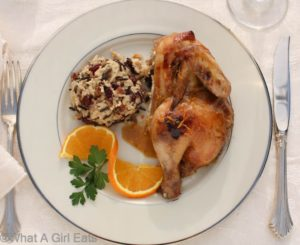 Slow cooker game hens with grand mariner sauce. @whatagirleats.com