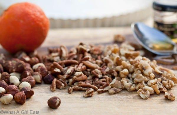 Pecans, walnuts and hazelnuts