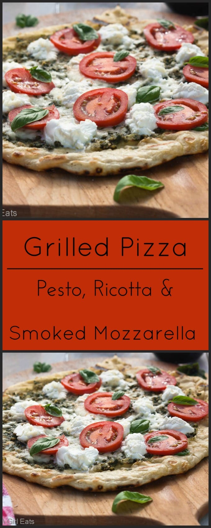 Grilled Pizza Pesto Cheese