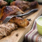 Peruvian garlic-lime roasted chicken is a flavor-packed meal that is easy to make, working equally well in leftover meals. | What a Girl Eats