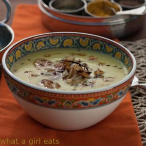 Curried Cauliflower Soup with Crispy Onions is not only creamy and delicious, it's also Paleo, vegetarian, and gluten free!   WhatAGirlEats.com
