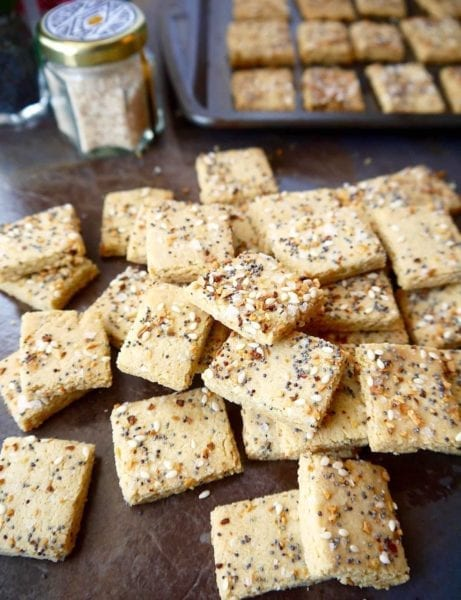 paleo everything almond cracker