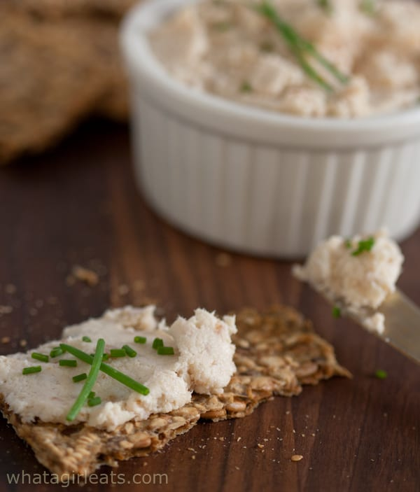 smoked trout on cracker