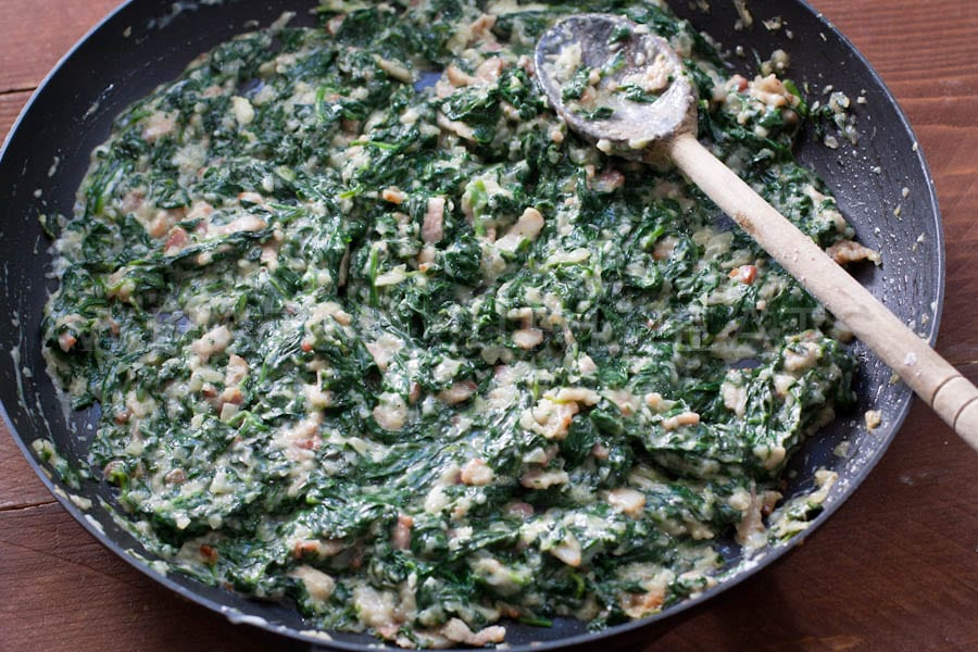 Spinach with cream sauce