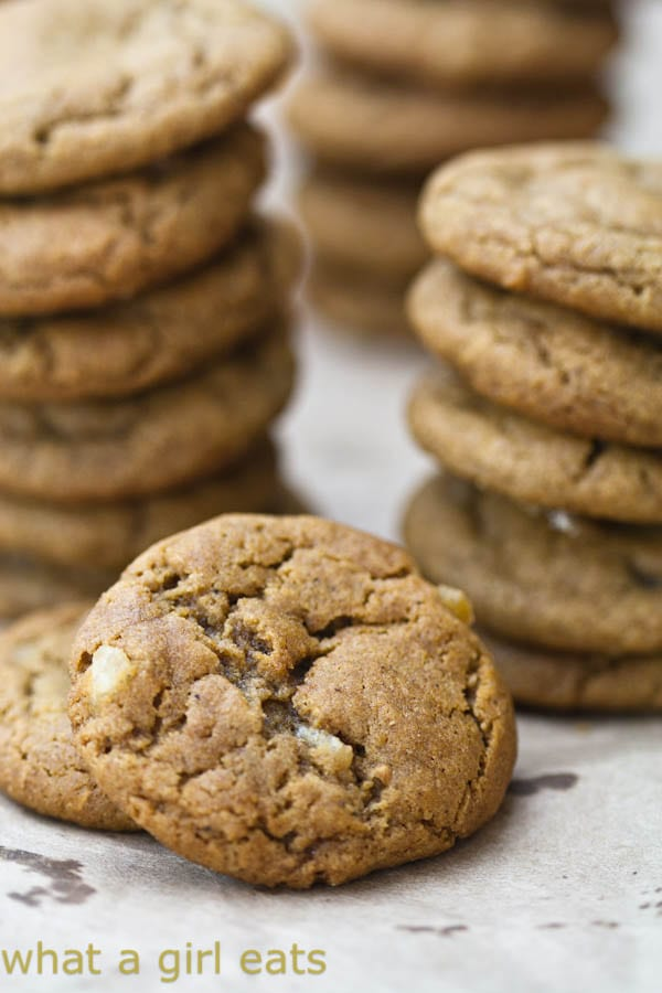 Ginger Chip Spice Cookies | WhatAGirlEats.com