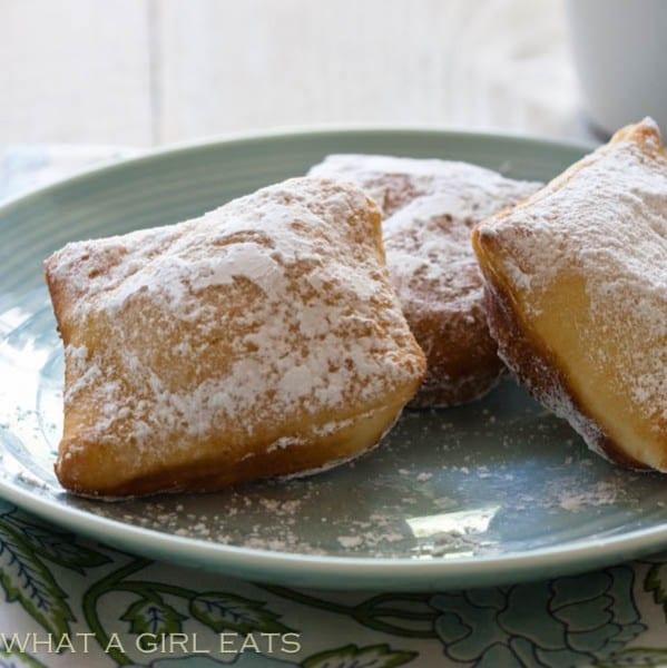 Easy Homemade Beignets Recipe | WhatAGirlEats.com