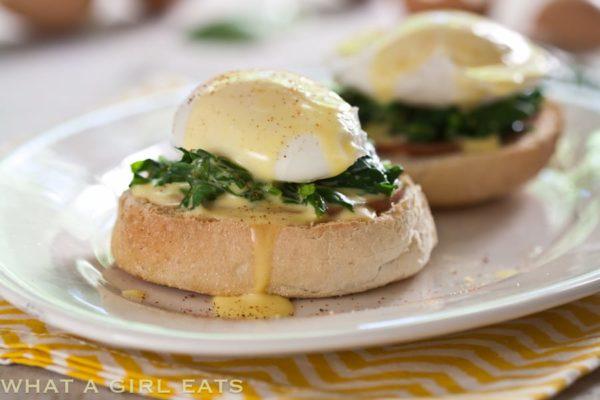 Eggs Florentine | WhatAGirlEats.com