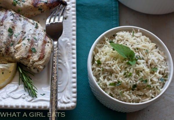 Grilled Greek Chicken, Greek Rice