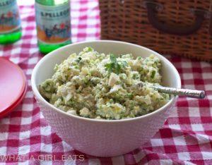 Really good potato salad with sweet pickles