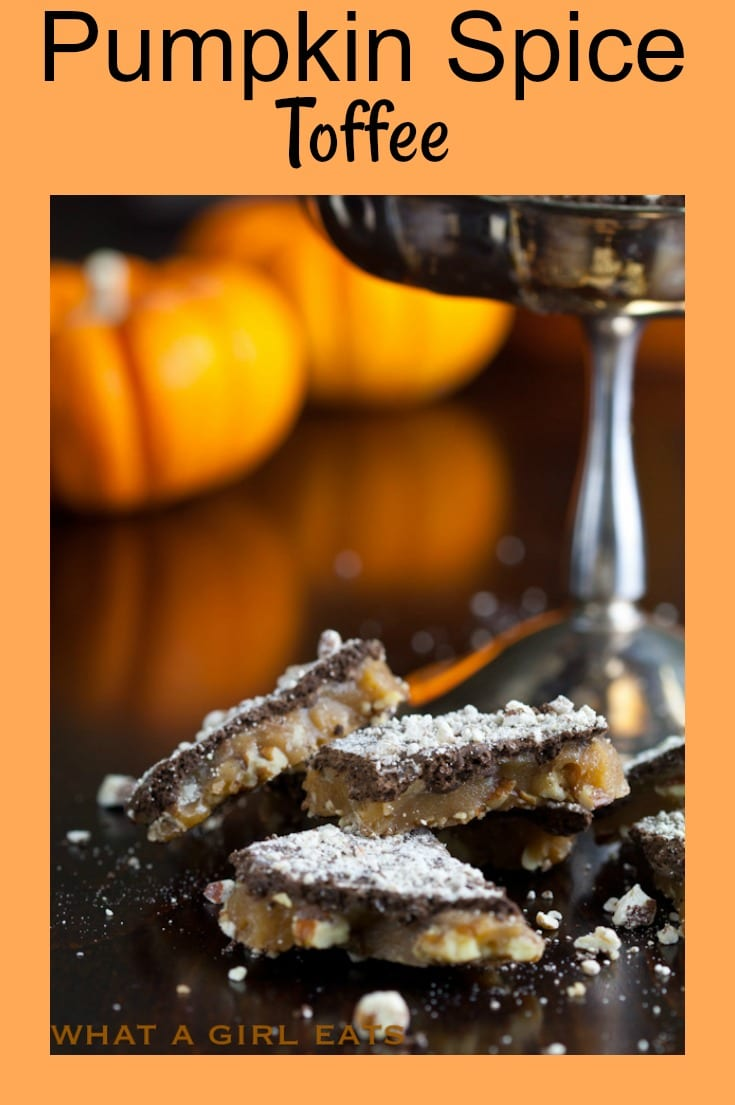 Pumpkin Spice Toffee with Pecans is a decadent treat that will get you in the mood for autumn!