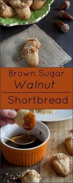 Brown sugar walnut shortbread