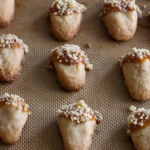 Brown sugar walnut shortbread Acorn cookies.