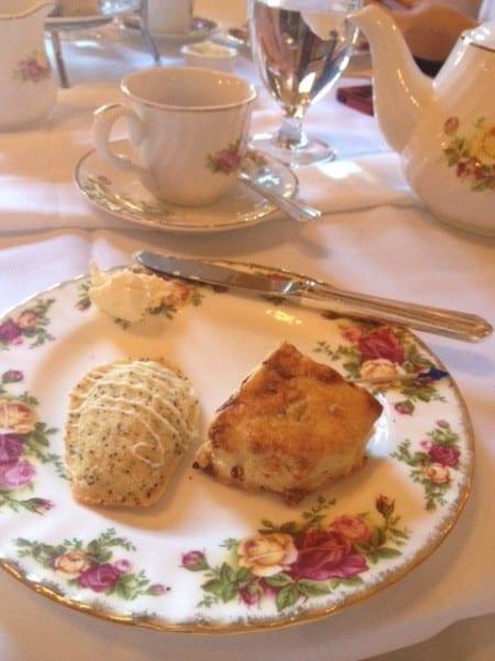 Poppyseed Madeleines and scones.