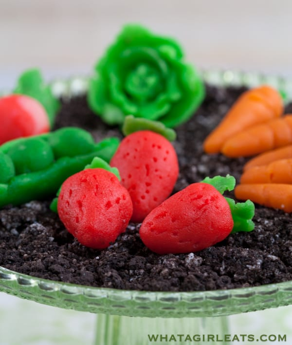 Marzipan candy vegetables.