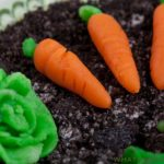 Making marzipan candy carrots is a fun project to do with kids. Learn how at WhatAGirlEats.com