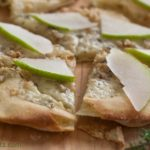 Pear-Walnut Gorgonzola Pizza - Get the recipe from WhatAGirlEats.com