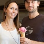 Jessica and Zachary serving up quality ice cream, one scoop at a time.
