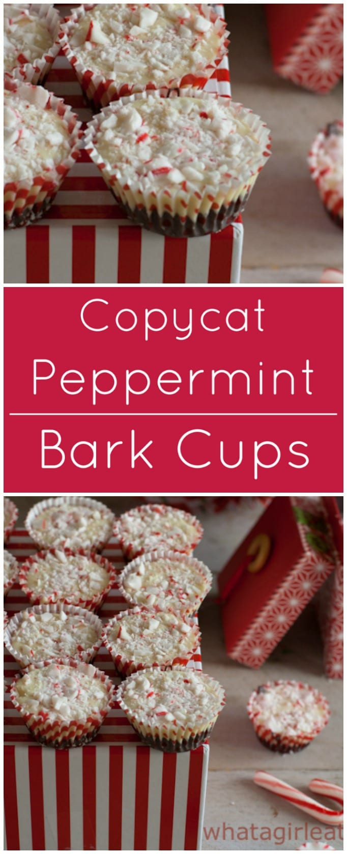 Easy to make copycat Peppermint Bark Cups look and taste just like the ones in those glossy catalogs at a fraction of the price!