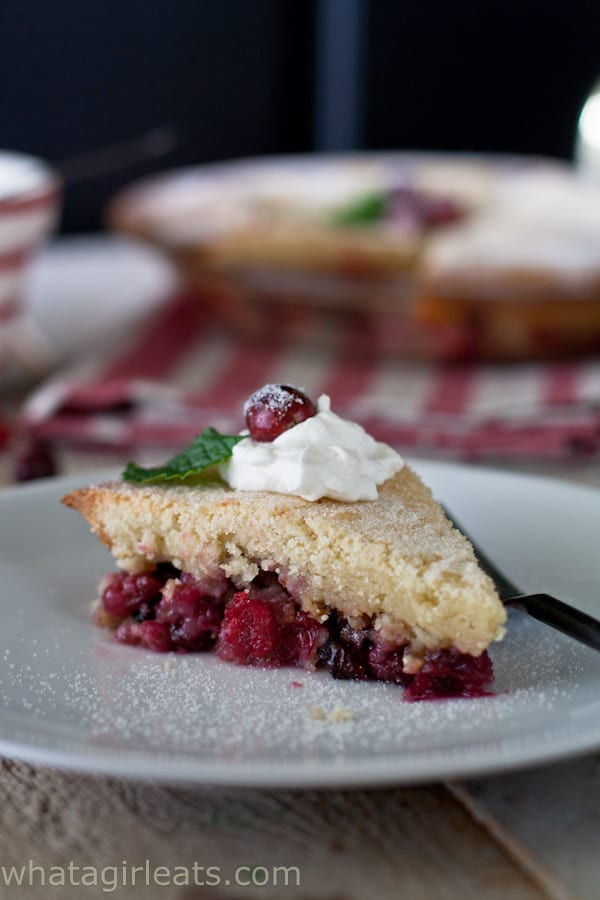 Nantucket Cranberry Pie - a simple dessert recipe from @whatagirleats