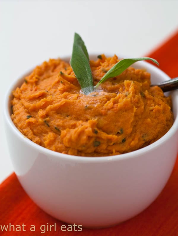 Sweet Potatoes with Browned Butter and Sage.