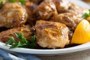 Slow-Cooker Chicken With Orange Sauce {And Grand Marnier}. Low Carb and gluten free