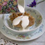 Ipswich Almond Pudding. A traditional British dessert, (pudding).