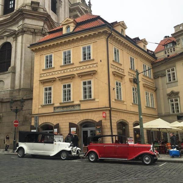 Hire a vintage car and driver for a romantic tour around Prague.