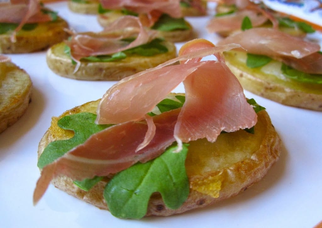 Prosciutto and truffle cheese appetizers