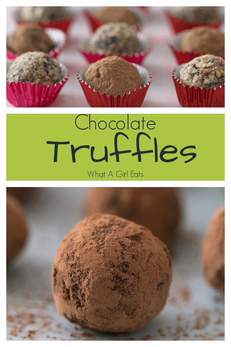 This easy chocolate truffle recipe is versatile. Flavor with a variety of liqueurs and roll in nuts or cocoa for a delicious dessert or gift.