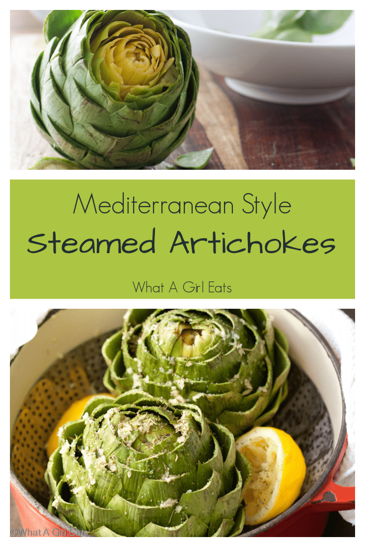 Mediterranean style steamed artichokes are a delicious spring appetizer or vegetable. Naturally low-carb and keto friendly.