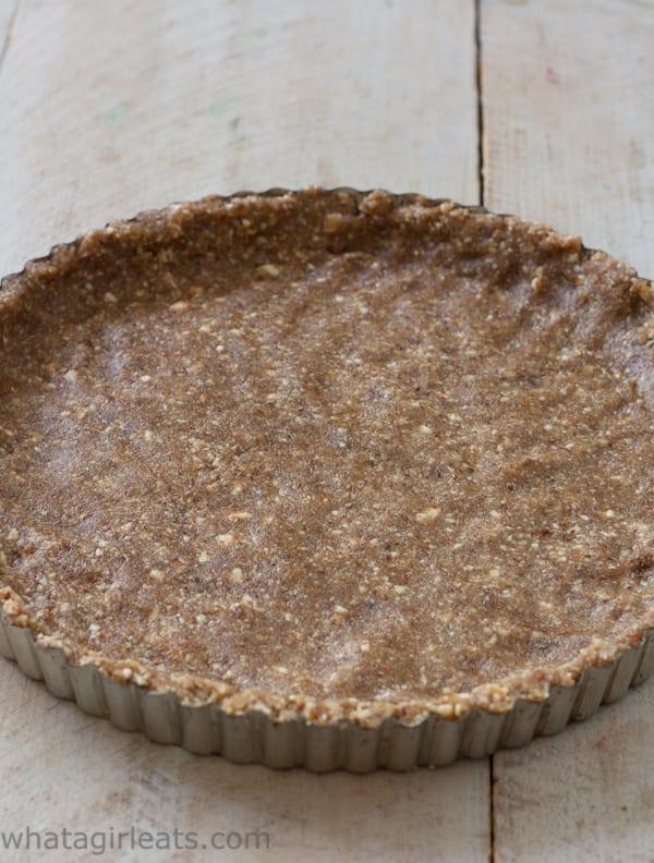 nut crust before baking