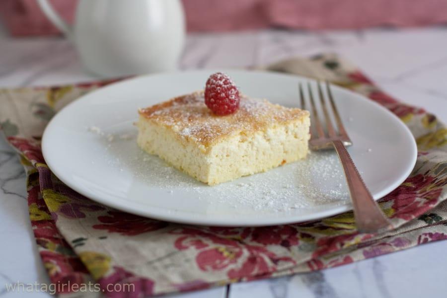 blintz souffle with raspberry