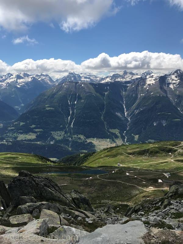 Aletsch arena glacier views.